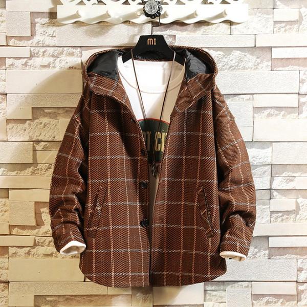 Человек Streetwear Одежда Куртки мужские Толстые Ветровка Человек Streetwear Осень Зима Японский Негабаритные Мужской жакет