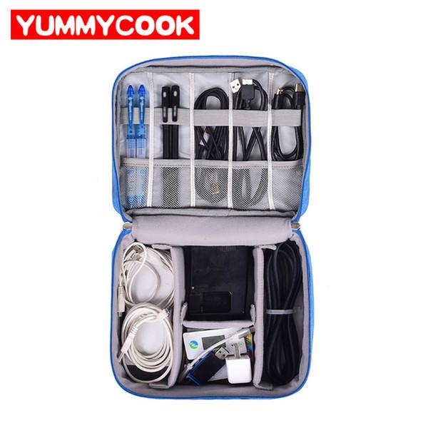 Voyage Câble Sac Portable Numérique USB Gadget Organisateur Chargeur Fils Cosmetic Zipper Pochette De Rangement Kit Cas Accessoires Fournitures