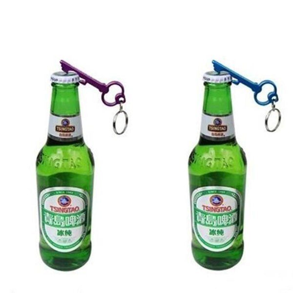 New METAL ALUMINUM ALLOY KEYCHAIN KEY CHAIN RING WITH BEER BOTTLE OPENER CUSTOM PERSONALIZED laser engraving for pay extra