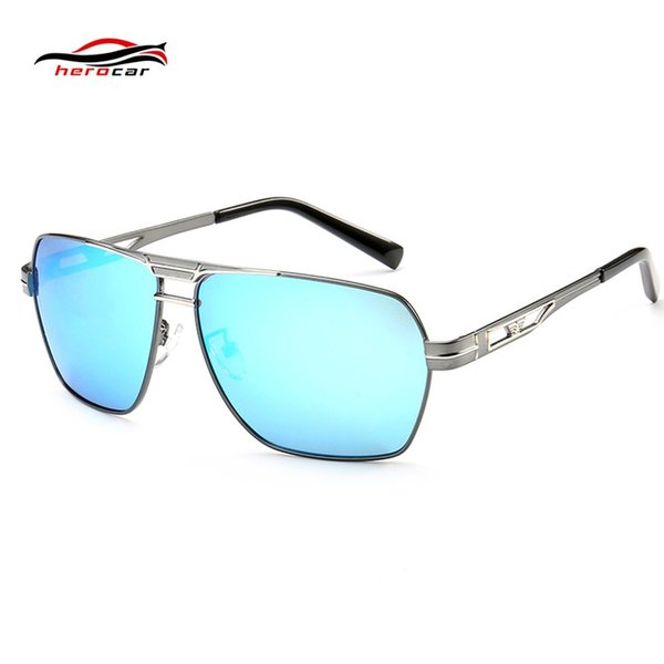 New Polarized Motorcycle Glasses Retro Sunglasses UV400 Steampunk Vintage Round Moto Goggles Riding Driving Eyewear Square