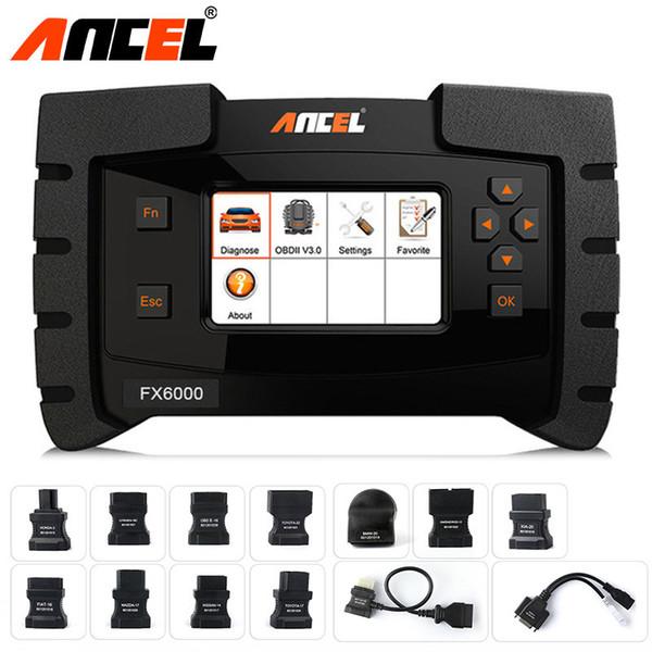 Ancel FX6000 OBD2 ماسحة السيارات التشخيص كل نظام تشخيص السيارات ODB2 ABS وسادة هوائية TPMS النفط DPF الترميز البرمجة OBD الماسح الضوئي