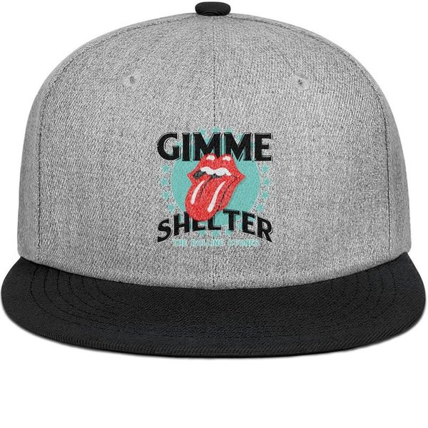 The Rolling Stones Gimmw Shelter mens and womens flat brim hats black snapback cool kids hats custom kids make your own fashion plain team