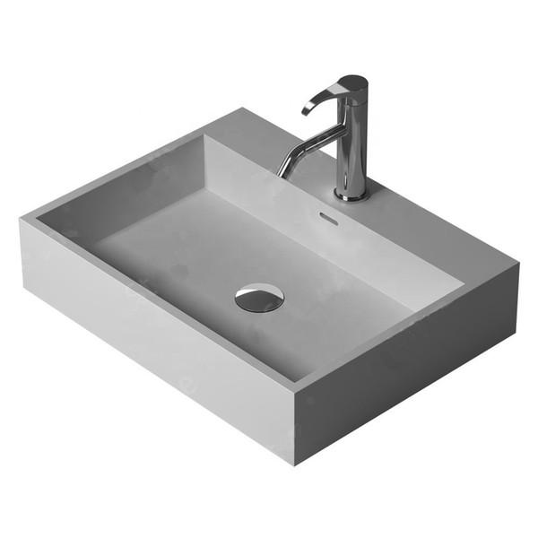 Bathroom Rectangular Wall Hung Wash Sink Fashionable Cloakroom Corian Vanity Wash Basin Solid Surface Resin Lavabo RS38343