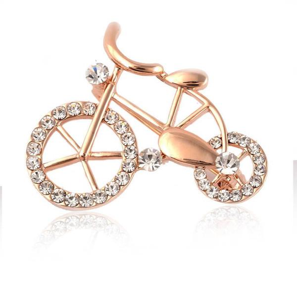 diamant créatif petit vélo Broche Corée serviette Broche boucle à double usage usine de gros