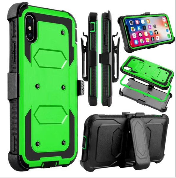 For iphone 11 5 8 6 1 6 5 6 7 8 plu x x max xr heavy duty hockproof hol ter wivel belt clip rotatable kick tand defender cover ca e