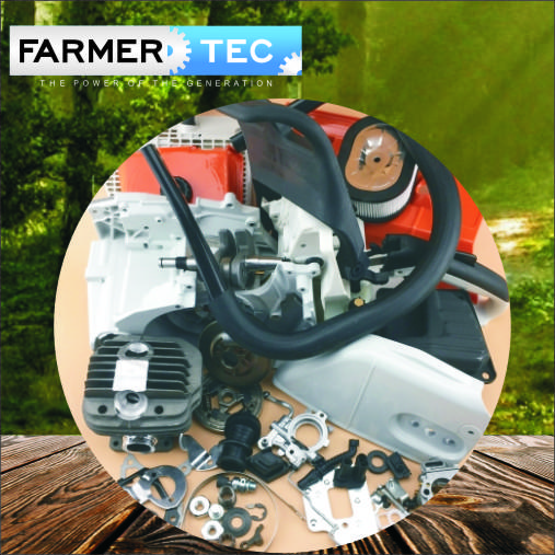Complete Repair Parts For STIHL MS440 044 Engine motor crankcase crankshaft cylinder piston chain sprocket cover By Farmertec