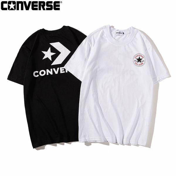 2019 tendência retro Samsung padrão de impressão de manga curta T-shirt homens e mulheres soltos casal meia manga