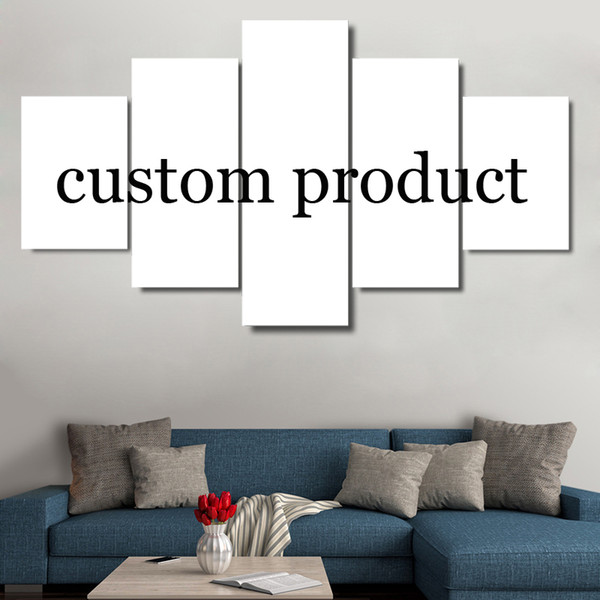 Wall Poster Frames Canvas 5 Panel Custom Painting In Modular Print Cuadros Living Room Decoration Pictures Drop Shipping