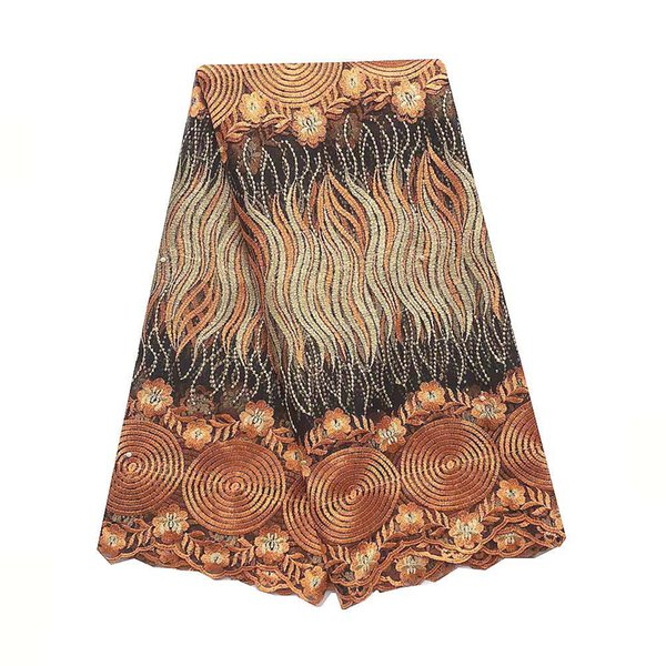 Orange African Lace Fabric 2019 Guipure Nigeria Lace Material Royal Blue French Embroidery Lace Fabric For Women
