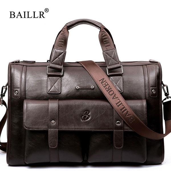 Baillr Brand High Capacity Men Briefcase Business Messenger Handbags Men Bags Laptop Handbag Bag Men's Travel Bags High Quality Y19051802