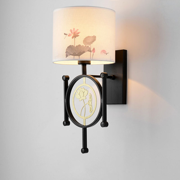 Intérieures La Murale Lampes Éclairage Appliques Peint À Acheter Luminaire Main D'accueil Applique Entrée Lotus Flower Chine Led Balcon u1J5lTFKc3