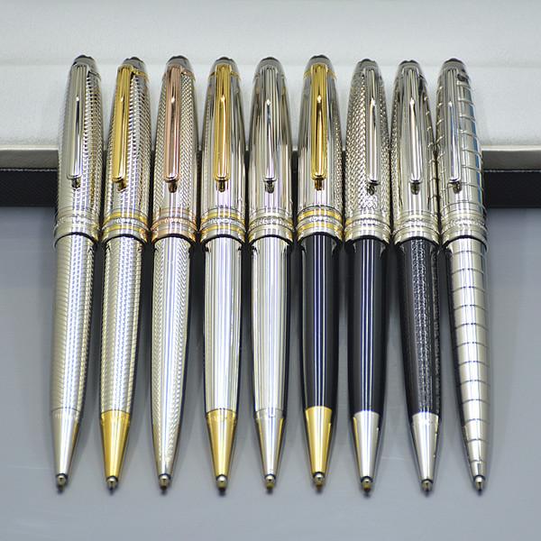 Wholesale Promotion - Hochwertige Meistersteks 163 Silber Metall Kugelschreiber Kugelschreiber Schule Bürobedarf mit MB Seriennummer XY2006108