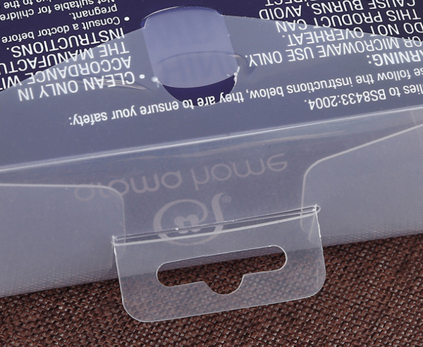 Printed transparent packaging box Custom Cosmetic Plastic Material transparent PET blister jewelry packaging box ---PX20205