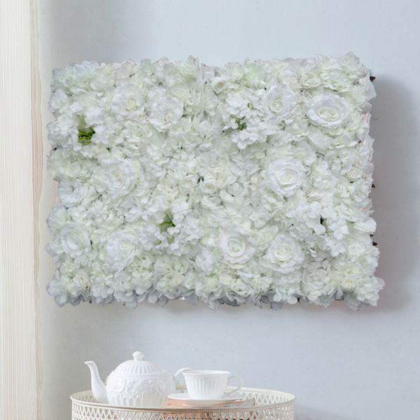 40*60cm white Artificial Flower Wall Wedding Background Decoration rose hydrangea Lawn Pillar Road Lead Flower Silk Rose