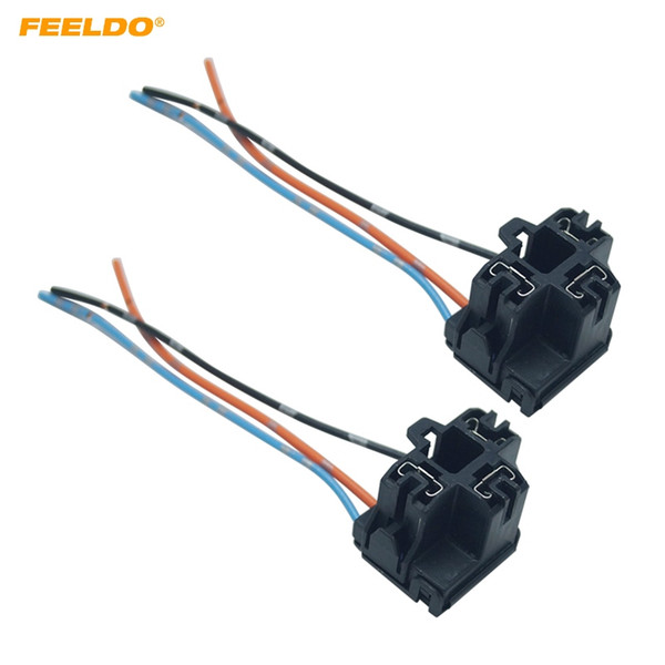 2019 feeldo auto car truck h4 headlight extension light connector plug socket adapter h4 led hid light wiring harness 5957 from feeldo, $7 7 hid headlight relay wiring diagram double dt harness plug wiring kit
