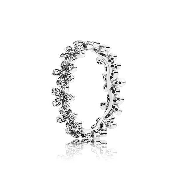 Authentic 925 Sterling Silver Women Wedding RING Set Original Box for Pandora CZ Diamond Flowers Fashion Luxury Ring