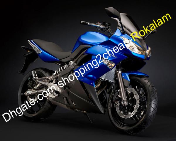 Bleu Noir repsol Pour Kawasaki Ninja Kit Capots ER6F 650R ER6F ER 6F Carénage Kit Carrosserie 2009 2010 2011
