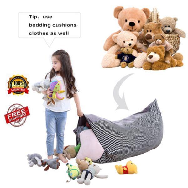 Haricot utile de stockage de jouet de peluche de vêtements de poupée épaissie par grande capacité