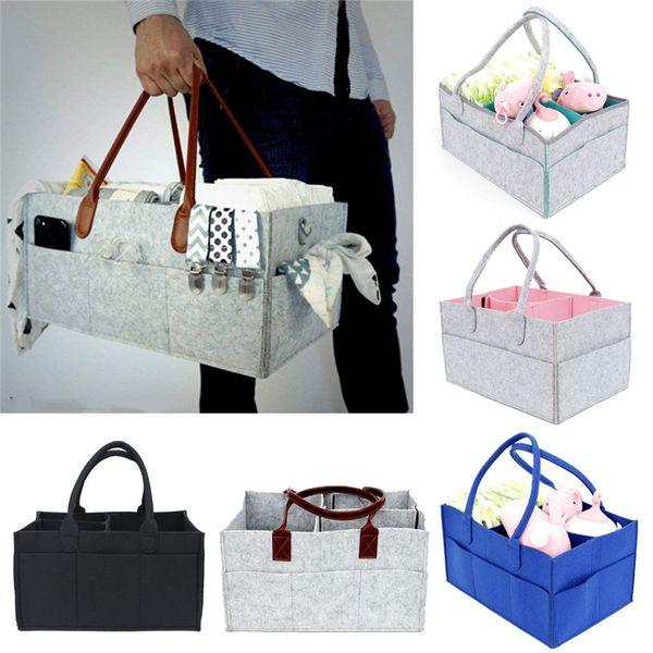 Home Storage Boxes Baby Diaper Wipes Bag Caddy Nursery Storage Bin Infant Nappy Organizer Basket