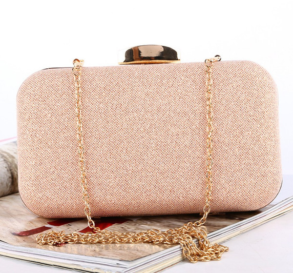 Ladies' Dinner Package Rose Gold Lady Evening Bag Customized Large Capacity Clutch Bag Symphony Banquet Package