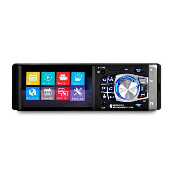 4.1 pouce 1 Din Auto Radio Auto Audio Stéréo FM Bluetooth Support Vue Arrière Caméra Volant Télécommande 4012B MP5