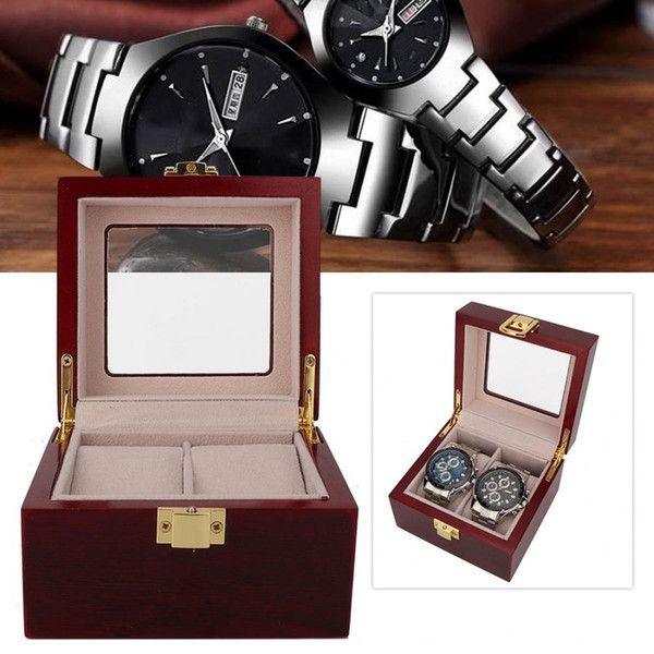 Professional Watch Holder 2 Grids Portable Travel Glossy Wooden Watch Display Box Collector Case Organizer Watches Storage Diy Watch Box Invicta Watch