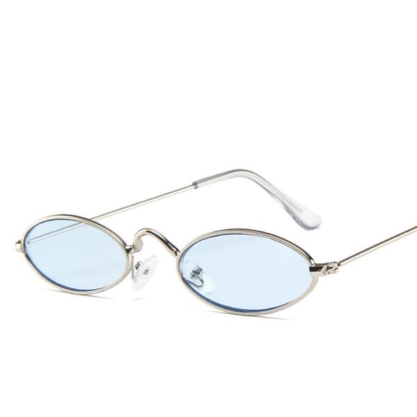 Großhandels-Retro kleine ovale Sonnenbrille-Frauen-weiblicher Weinlese-Hip Hop Eyewear-Weinlese-Dame Travel Beach Metal Frame Sunglasses TTA1120