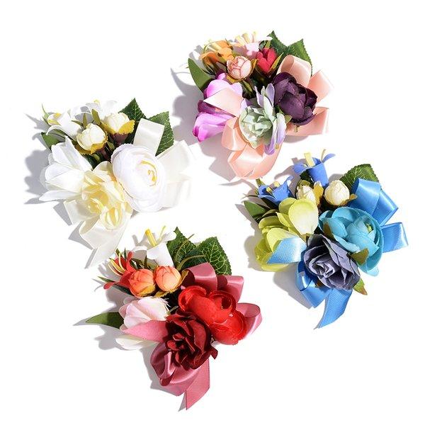 Coreano panno Spilla Fiore del tessuto di arte collare della camicia Pins d'epoca e Spille per il vestito donne camicia collo Accessori
