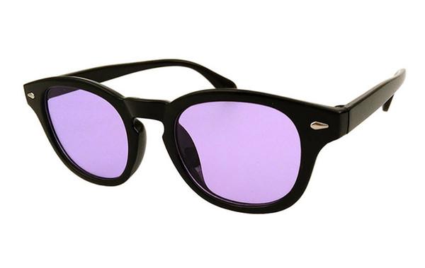 Квадратные V Южные солнцезащитные очки Женщины мужчины ретро дизайнер пластиковая рамка модные солнцезащитные очки черный красный линзы оттенки UV400 9005