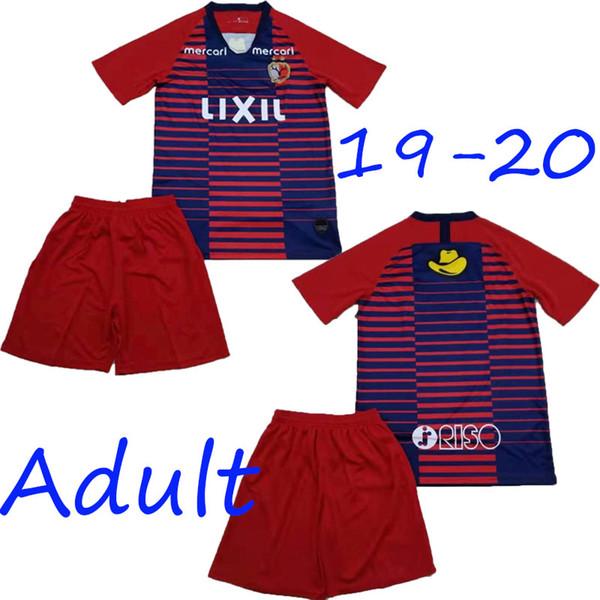 en iyi 2019 2020 J1 League Kashima Geyik boynuzu camiseta de fútbol yerel 19 20 Jap J League Kashima Geyik boynuzu roja franja azul camisetas de fútbol