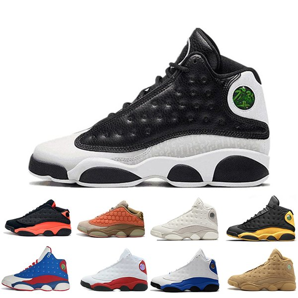 With Box 13 13s Cap And Gown men basketball Grey Terracotta Blush Captain America Alititude Green Black Cat sports sneakers designer trainer
