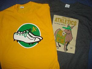 2 Oakland A 039 s 2015 camiseta Charlie O amp White Cleats sz Medium Athletics shoes M
