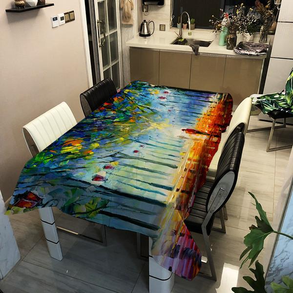 Acheter Table Ronde Tissu Fleurs Geometrie Couleurs Solides Table Ronde Salle A Manger Decor Couverture Polyester Faux Lin Imprime Nappe De 34 17 Du