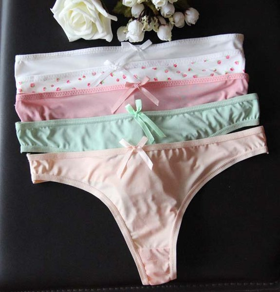Summer Women G-string Girl Thin Underwear Female Sexy Briefs Low Waist T Trousers Sexy Panties