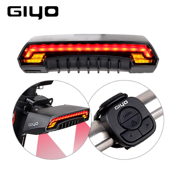 Giyo Laser Bike Light Usb Rechargeable Led Cycling Tail Rear Light Lamp 85Lumen Mount Red Lantern For Bicycle Light Accessories