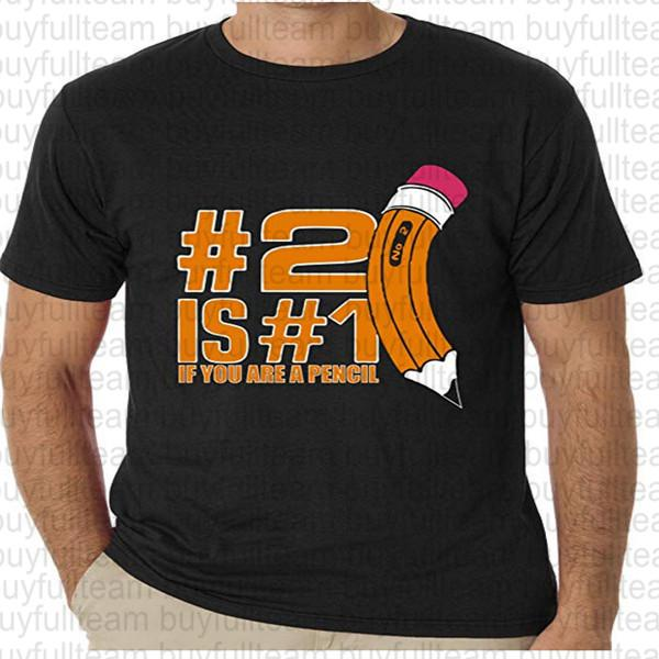 2 is 1 If You are Pencil Mens Black Short Sleeves Tops Fashion Round Neck T Shirts Size S M L XL 2XL 3XL