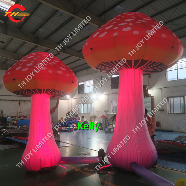 top popular 3m 4m high LED inflatable mushroom balloon lighting giant inflatable stage balloon decoration new design beautiful inflatable mushroom 2021