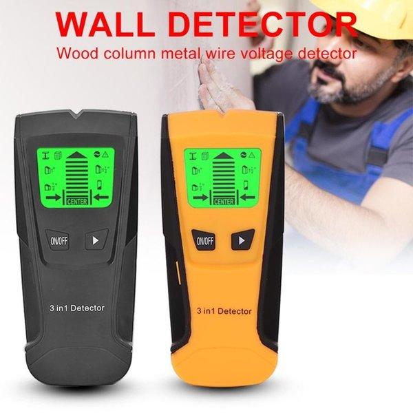 Промышленный металл S 3 в 1 металлический детектор Детектор Детектор Деревянные шпильки Детектор переменного тока Напряжение Живая проволока Обнаружение стенового сканера стен