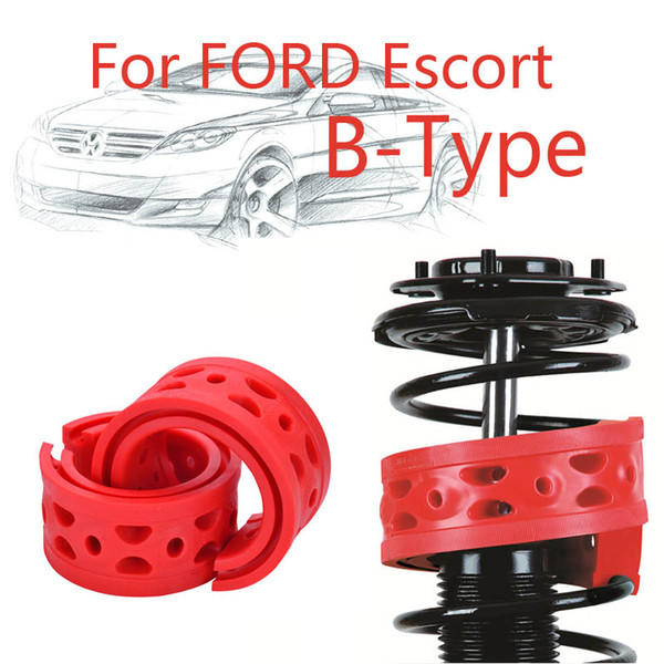Jinke 1pair Front Shock SEBS Size-B Bumper Power Cushion Absorber Spring Buffer For Ford Escort