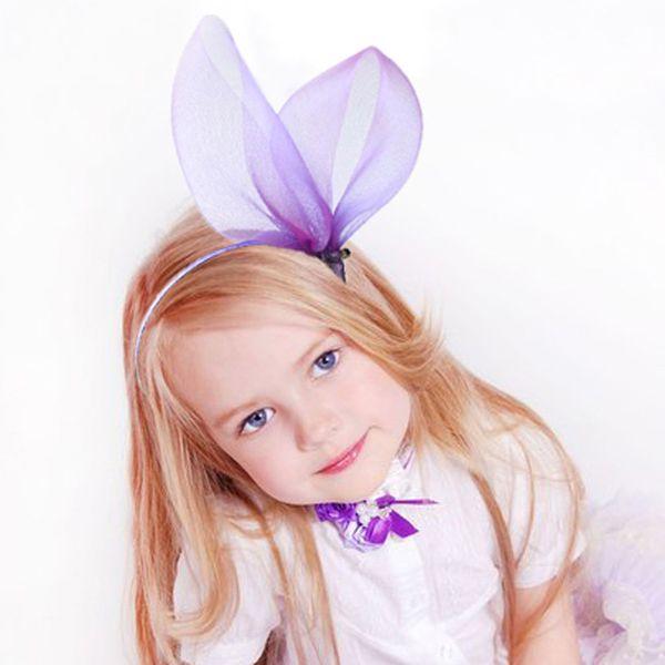 Hot sale Mesh Bunny Ear Headband Party headdress hair hoop Black Rabbit Lace Floral Alice Band Hair Accessories hairband