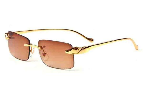 Mens Designer Sunglasses Rimless Sunglasses 2019 Brand Designer Summer Styles Fashion Lady Shades Silver Gold Metal Eyeglasses Glasses