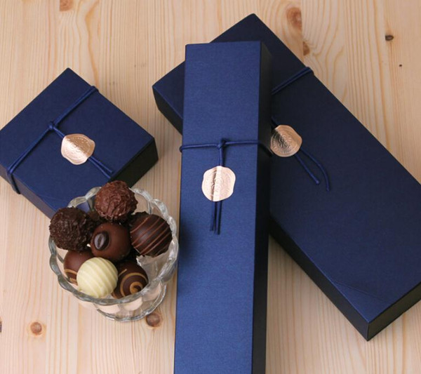4/6/12 Packed Red Blue Chocolate Paper Box Valentine's Day Christmas Birthday Party Chocolate Gifts Packaging Boxes SN2549