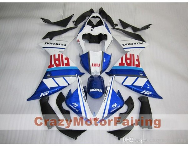 3 Free Gifts New ABS Injection High quality Fairing Kits 100% Fit For YAMAHA YZF1000 R1 YZF-R1 2009 2010 2011 09 10 11 blue red FIAT
