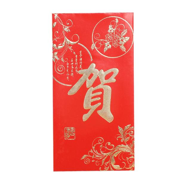 Buste rosse di nuovo anno cinese Busta rossa di nozze Tasche dei soldi fortunati Festival di primavera Hongbao Vendita calda