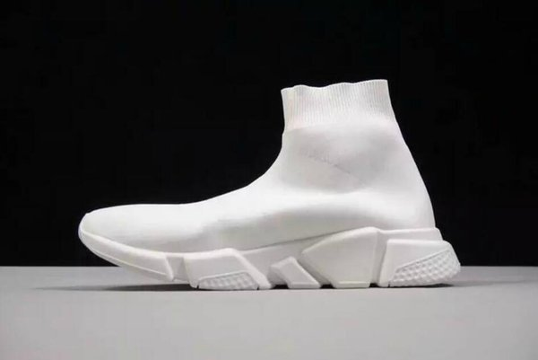Best Level Brand High Quality Unisex Casual Shoes Flat Fashion Socks Boots Woman New Slip-on Elastic Cloth Speed Trainer Runner Man Shoes
