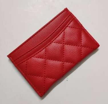 Cassa della carta di ID della carta di credito di lusso donne Holder raccoglitore del cuoio genuino di affari moneta tasca borsa Bank 2019 nuovo modo sottile femminile Pouch Bag
