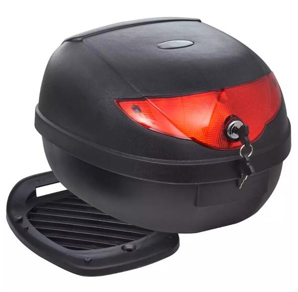 VidaXL Motosiklet Üst Vaka Kutusu Tek Kask için 36 L Motosiklet Kilidi Depolama Taşıyıcı Tur Bagaj Büyük Boy Abd Depo hızlı kargo