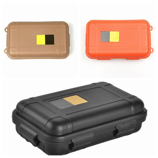 Scatola di immagazzinaggio impermeabile antiurto di scatola impermeabile esterna EDC Scatola di immagazzinaggio di sopravvivenza selvaggia antiurto 3 colori LJJZ423