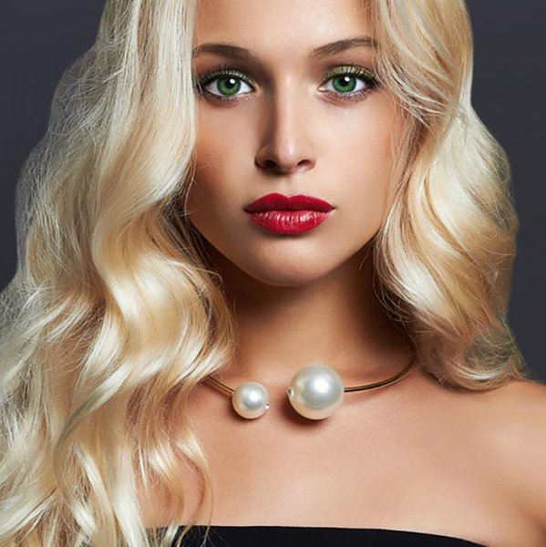 Open Pearl Choker Necklace Double Simulated Pearl Necklace For Women Luxury Party Ladies Elegant Fashion Jewelry