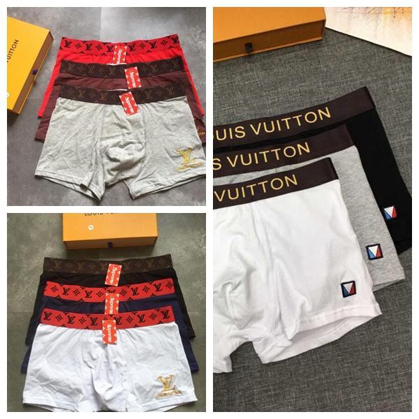 Mit Box Designer Brief Luxus Flut Marke sexy Boxer für Männer Modedesigner Unterwäsche für Männer Baumwolle atmungsaktiv Herren Boxer Unterhose 02